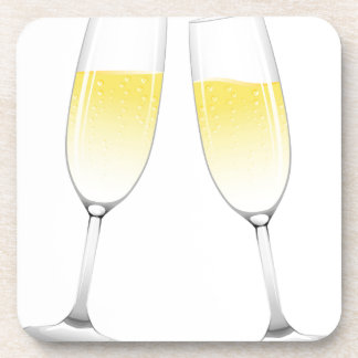 Champagne Glasses Drink Coaster