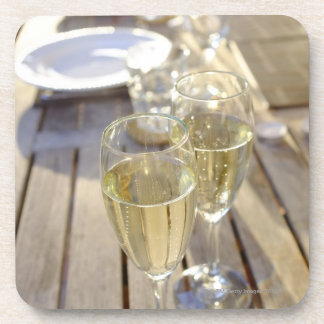 Champagne glasses drink coaster
