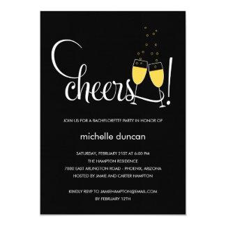 Champagne Glasses Engagement or Bachelorette Party 13 Cm X 18 Cm Invitation Card