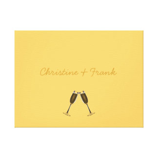 Champagne Glasses Gallery Wrapped Canvas