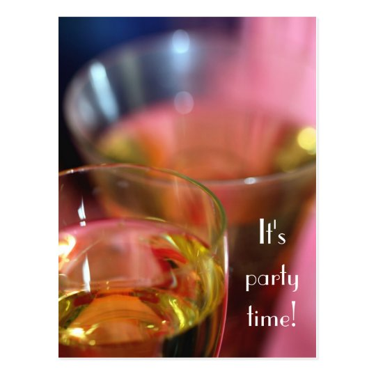 Champagne Glasses Postcard- You're Invited Postcard