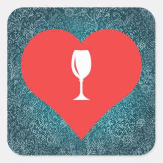 Champagne Glasses Symbol Square Sticker