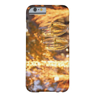 Champagne glasses toasting Christmas on city Barely There iPhone 6 Case