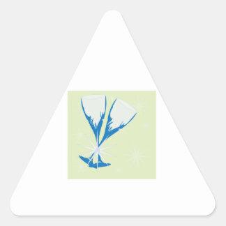 Champagne Glasses Triangle Sticker