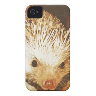 Champagne Hedgehog Digital Vintage Effect iPhone 4 Case-Mate Case