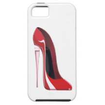 Champagne heel red stiletto shoe art iPhone 5 cases