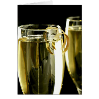Champagne in Black Note Card