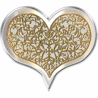 Champagne & Lace Heart (Keychain) Acrylic Cut Outs
