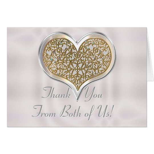 Champagne Lace (Wedding Thank You Note Card) Card