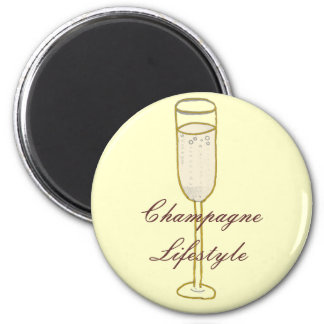 Champagne Lifestyle Magnet