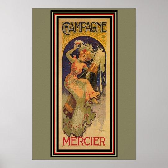 Champagne Mercier Art Nouveau Poster 13 x 19