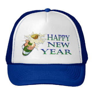 Champagne New Years Trucker Hat