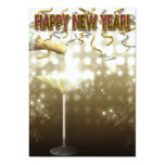 """Champagne New Years Eve Party Invitations 5"""" X 7"""" Invitation Card"""