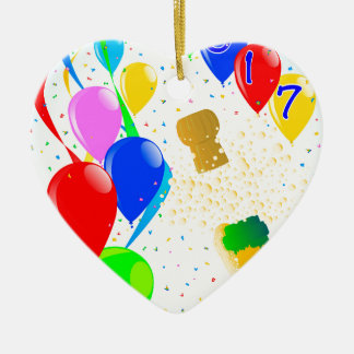 Champagne Party 2017 Ceramic Heart Decoration