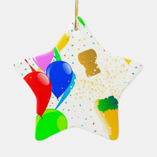 Champagne Party 2017 Ceramic Star Decoration