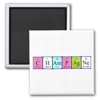Champagne periodic table name magnet