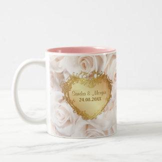Champagne Pink Rose Elegance Two-Tone Coffee Mug