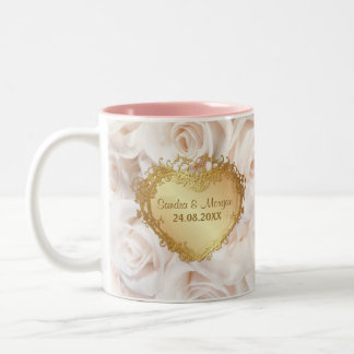 Champagne Pink Rose Elegance Two-Tone Mug