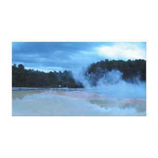 Champagne Pool near Rotorua New Zealand Canvas Print