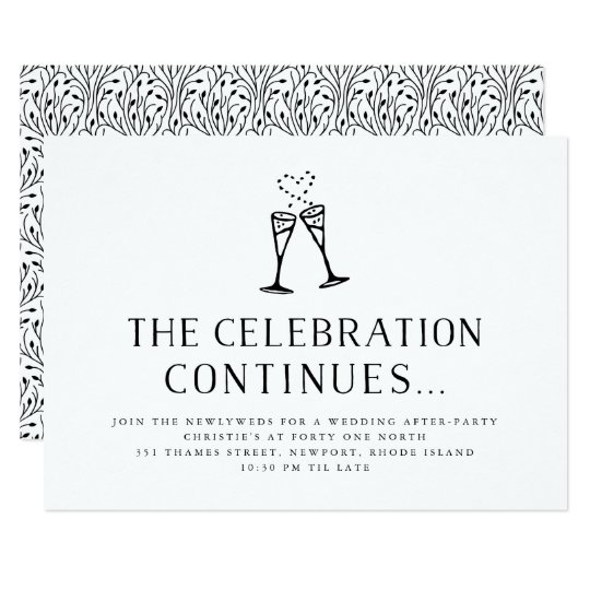 Invitation For Reception After The Wedding: Wedding After Party Invitation