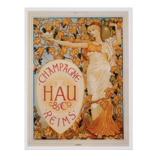 Champagne Reims Vintage Wine Drink Ad Art Posters