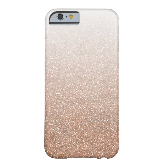 Champagne Rose Gold Faux Glitter Ombre Barely There