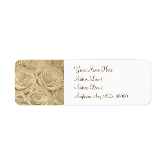 Champagne Roses Return Address Label