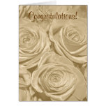 Champagne Roses Wedding Card