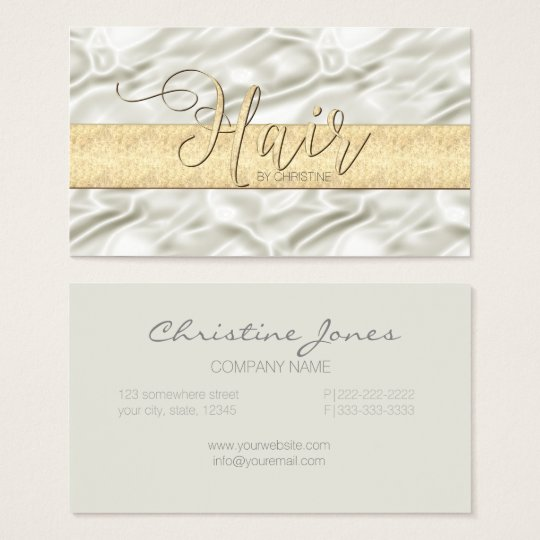 Champagne Satin and Gold Hair ID186 Business Card