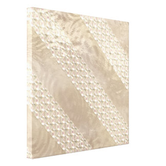 Champagne Satin Ribbons Gallery Wrap Canvas