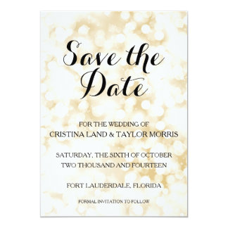 "Champagne Save the Date 5"" X 7"" Invitation Card"