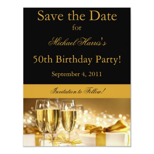 Champagne Save the Date Invitation
