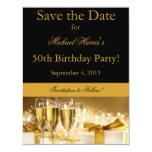 Champagne Save the Date Invitation 11 Cm X 14 Cm Invitation Card