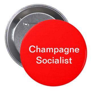 Champagne Socialist Badge