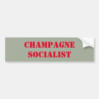 Champagne Socialist bumper sticker