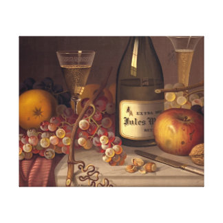 Champagne Still Life 1875 Stretched Canvas Prints