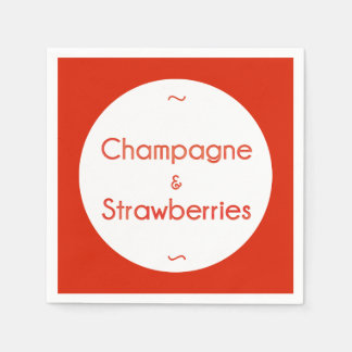 Champagne & Strawberries Disposable Napkin