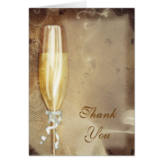 Champagne Thank You Greeting Card