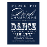 Champagne Theatre Bill Save the Date Postcard