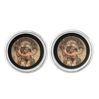 Champagne Toast 19th century Cuff Links