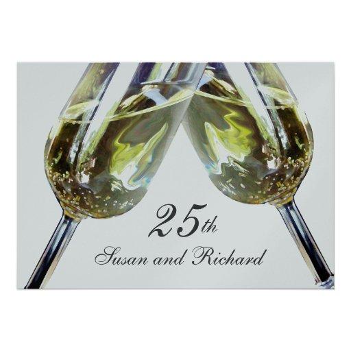 Champagne Toast/ 25th Anniversary Invites
