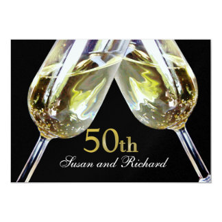 Champagne Toast 50th Anniversary Card