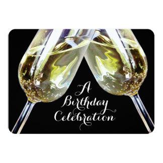 Champagne Toast 50th Birthday Card