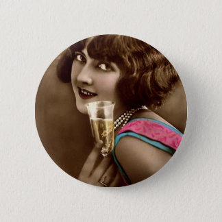 Champagne Toast 6 Cm Round Badge