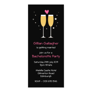 Champagne Toast Bachelorette Party Invitation