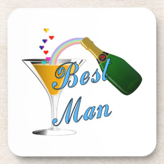Champagne Toast Best Man Coaster