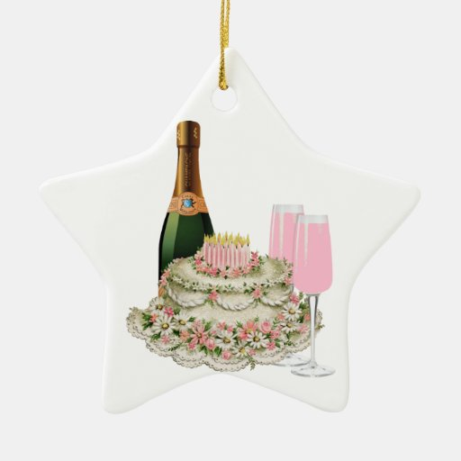 Champagne Toast Birthday Ornaments
