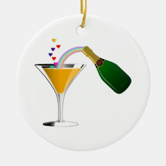 Champagne Toast Christmas Ornament