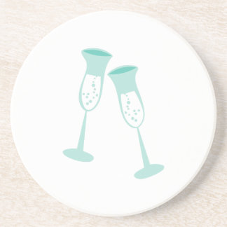 CHAMPAGNE TOAST BEVERAGE COASTERS