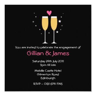 Champagne Toast Engagement Party Invitation2 13 Cm X 13 Cm Square Invitation Card
